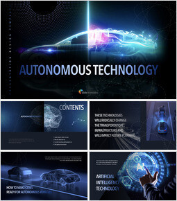Autonomous Technology template keynote free_50 slides