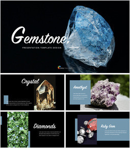 Beautiful Gemstone Apple Keynote Template_00