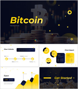 Bitcoin Financial Theme PowerPoint Template building a pitch deck_13 slides