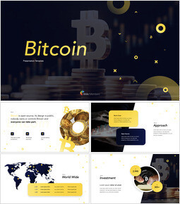 Bitcoin Financial Theme PowerPoint Template keynote template download_00