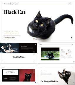 검은 고양이 멀티 프레젠테이션 키노트 템플릿_00
