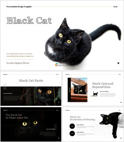 Black Cat Simple PPT Templates_00