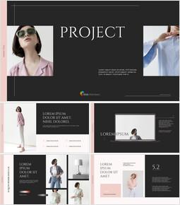 브랜드 프로젝트 전략 심플한 파워포인트 템플릿 디자인_13 slides
