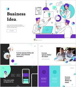 ビジネスアイデアプランピッチデッキアニメーションPowerPointテンプレート_13 slides