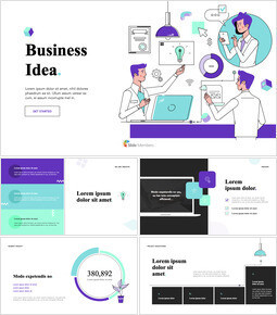 Business Idea Plan Pitch Deck Template keynote template_13 slides