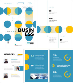 Business Modern Geometric Cover Google Slides Themes for Presentations_26 slides