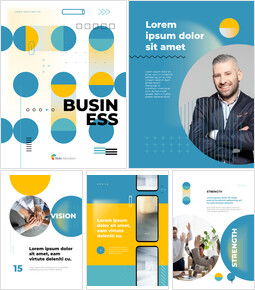 Business Modern Geometric Cover Simple PPT Templates_26 slides