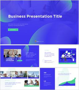 PowerPointでのビジネスプレゼンテーションプレゼンテーションアニメーションスライド_13 slides