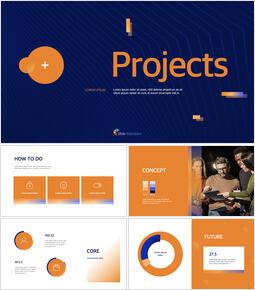 ビジネスプロジェクトの最高のプレゼンテーションテンプレート キーノートのPPT_00