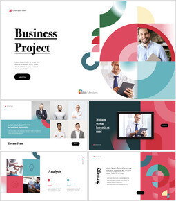 Business Project Geometric Design Deck Template iMac Keynote_00
