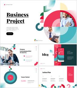 ビジネスプロジェクトの幾何学的なデザインデッキテンプレート パワーポイントデザイン無料_13 slides