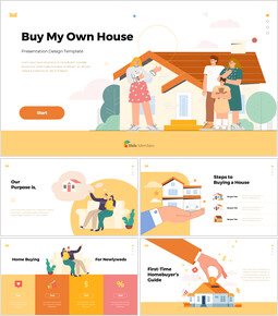 Buy My Own House PowerPoint Design ideas_50 slides
