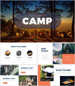 Camping Google Presentation Templates_40 slides