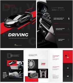 자동차 운전 개념 심플한 슬라이드 디자인_26 slides