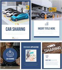 Condividere l\'auto Campioni di presentazione PPT_25 slides