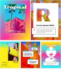 Colorato concetto tropicale Progettazione di presentazione di PowerPoint_23 slides