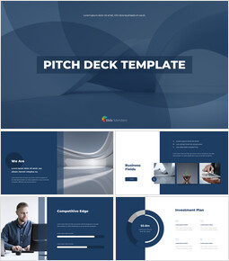 Azienda Modern Pitch Deck Template Diapositive animate_00