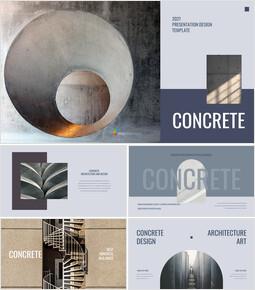 Concrete Simple Slides Design_40 slides
