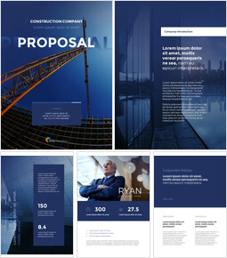 건설 회사 제안 프레젠테이션을 위한 구글슬라이드 템플릿_27 slides