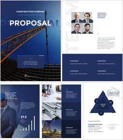 건설 회사 제안 프로페셔녈한 PPT_27 slides