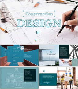 Construction Design PowerPoint Backgrounds_50 slides