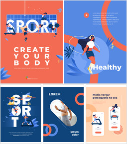 Create Your Body Concept Sport Illustration PowerPoint Design Download_26 slides