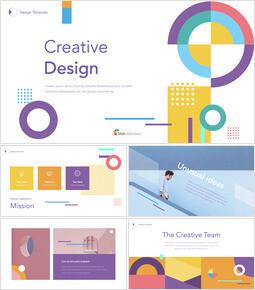 Design creativo Progettazione del modello del profilo aziendale_50 slides
