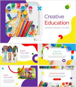 Éducation créative Conception PowerPoint simple_35 slides