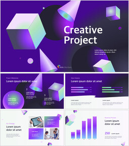 Creative Project Abstract Design template design_13 slides