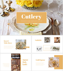 Cutlery Simple Google Slides Templates_40 slides