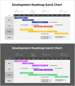 Development Roadmap Gantt Chart_2 slides