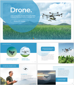 Drone Modelli di PowerPoint di Business_35 slides