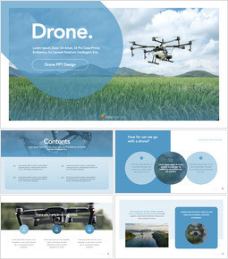 Drone keynote presentation templates free_35 slides