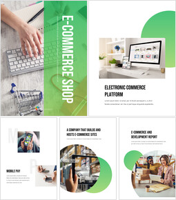 Negozio di e-commerce Modelli PPT Design semplice_25 slides