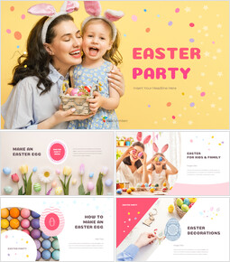 Easter Party best presentation template_50 slides