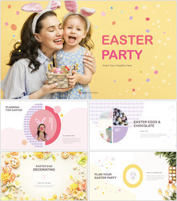 Easter Party Theme Keynote Design_50 slides