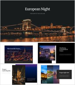 European Night google slides template_35 slides