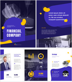 Financial Company Report Template Design PPT Model_00