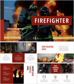 Firefighter company profile template design_35 slides