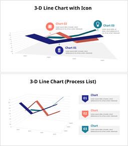 4つの3D折れ線グラフ_10 slides