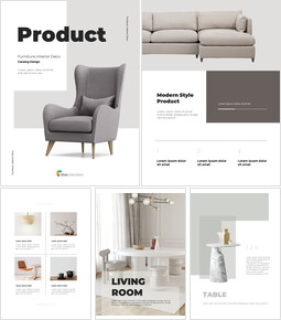 Furniture, Interior Deco Product Catalog Design PPT PowerPoint_26 slides