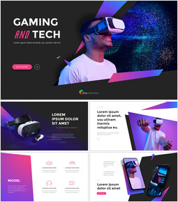 Gaming and Tech Pitch Deck Template Best PPT Templates_13 slides