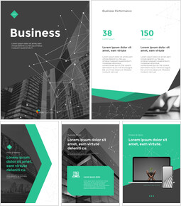 Geometric Line Background Business Templates for PowerPoint_25 slides