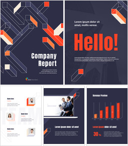 Geometric Pattern Company Report Business plan Templates PPT_26 slides