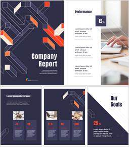 Geometric Pattern Company Report Creative Google Slides_26 slides
