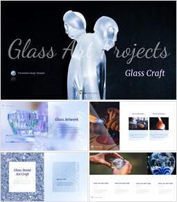 Glass Craft template design_37 slides