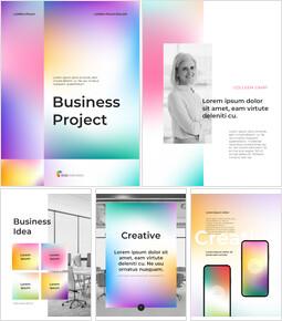 Geschäftsprojekt mit Verlaufsfarben PPT-Entwurfsvorlagen_26 slides