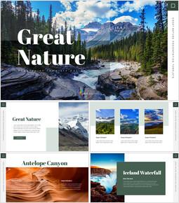 Grande natura Modello di diapositiva_40 slides
