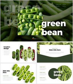 Green Bean PPT Templates Simple Design_00