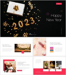 Happy New Year 2021 presentation slide design_50 slides